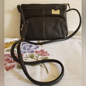 Tignanello Cross Body Purse Black Leather